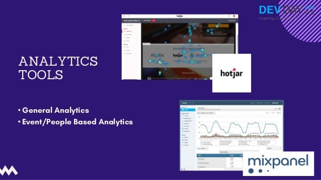 ANALYTICS TOOLS • General Analytics • Event/People Based Analytics F u n H a c k s   M a r c e l i n e A n d e r s o n