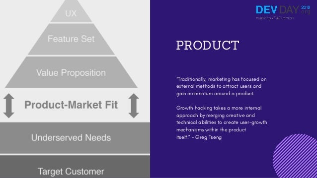"""PRODUCT """"Traditionally, marketing has focused on external methods to attract users and gain momentum around a product. Gro..."""