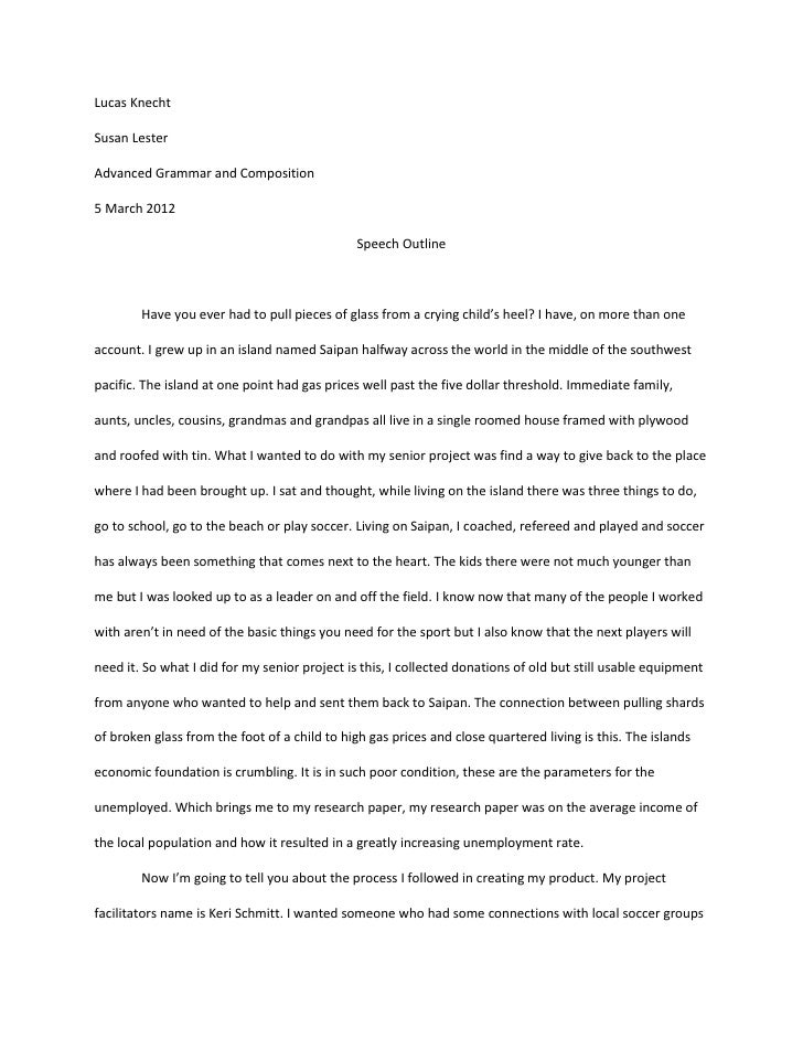 lucas speech essay lucas speech essay lucas knechtsusan lesteradvanced grammar and composition5 2012