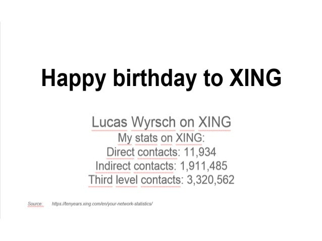 Lucas Wyrsch on Xing on November 2013 at Xing's 10 Years Anniversary