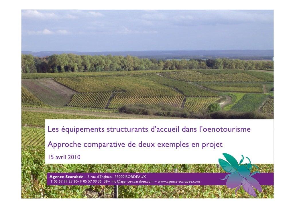 Page de couv       Les équipements structurants d'accueil dans l'oenotourisme   Approche comparative de deux exemples en p...