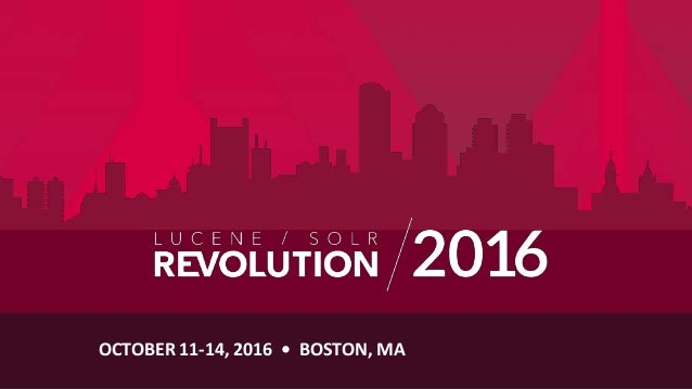 OCTOBER 11-14, 2016 • BOSTON, MA