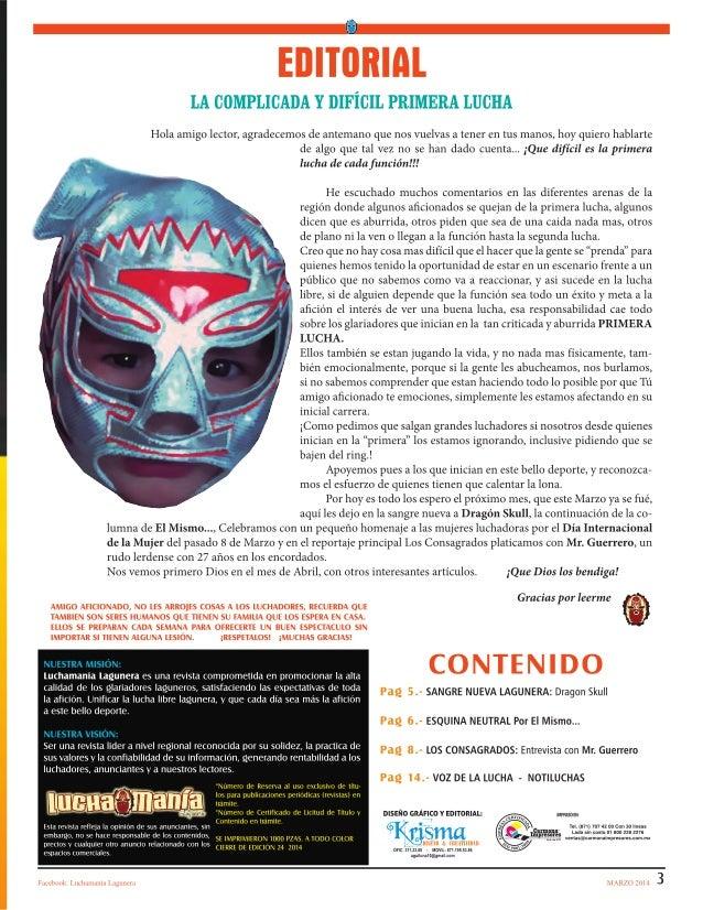 LUCHAMANIA MARZO No. 2