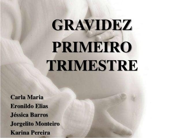 GRAVIDEZ PRIMEIRO TRIMESTRE Carla Maria Eronildo Elias Jéssica Barros Jorgelito Monteiro Karina Pereira