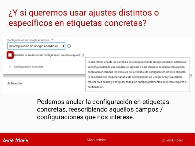 Marketineo @SeoBilbao Podemos anular la configuración en etiquetas concretas, reescribiendo aquellos campos / configuracio...