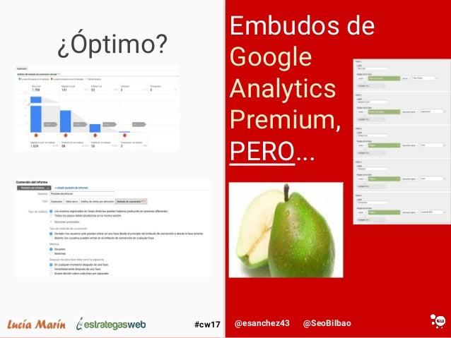 @SeoBilbao@esanchez43#cw17 ¿Óptimo? Embudos de Google Analytics Premium, PERO...