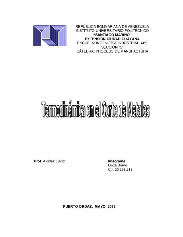 1Prof. Alcidez Cadiz Integrante:Lucia BravoC.I. 20.298.218PUERTO ORDAZ, MAYO 2013REPÚBLICA BOLIVARIANA DE VENEZUELAINSTITU...