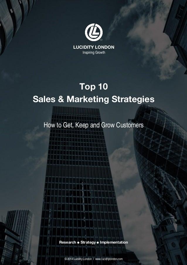 Lucidity London Top 10 Sales & Marketing Strategies