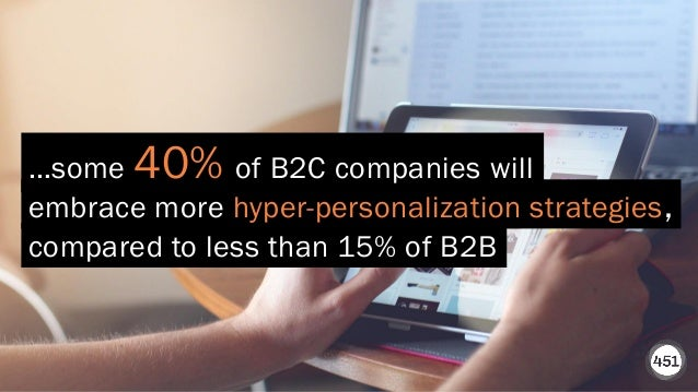 451RESEARCH.COM ©2020 451 Research. All Rights Reserved. embrace more hyper-personalization strategies, …some 40% of B2C c...