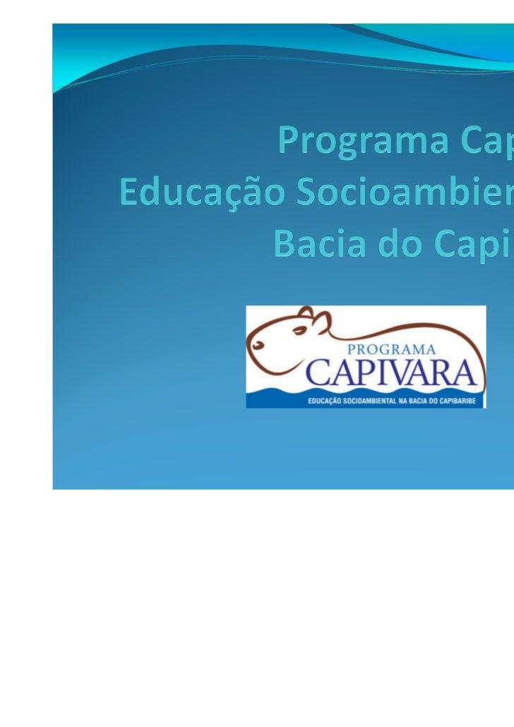 I Curso de Extensão sobreSustentabilidade Socioambiental       no Alto Capibaribe      Educação socioambiental contextuali...