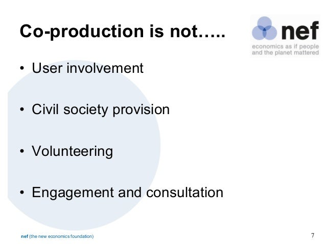 Co-production Designing and Delivering Services with Citizens