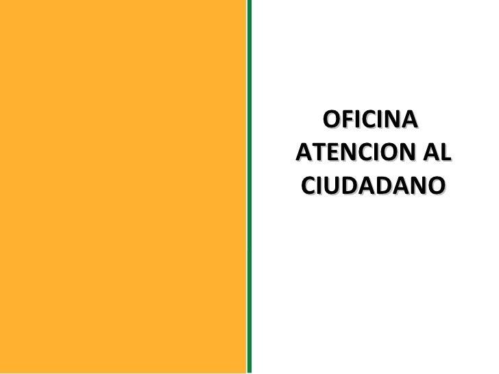Oficina atenci n al ciudadano alcald a de sucre for Oficina atencion al contribuyente madrid