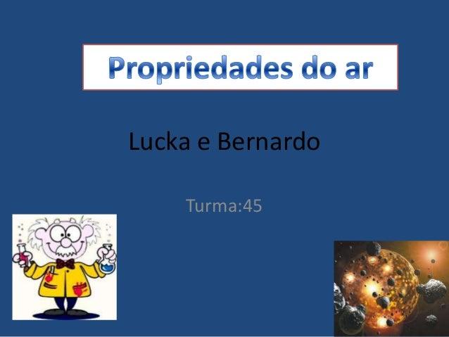 Lucka e BernardoTurma:45