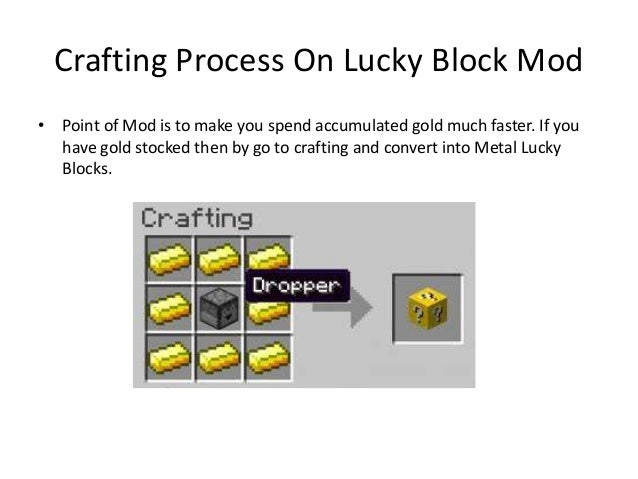 how to craft a lucky block lucky block mod for minecraft 7775