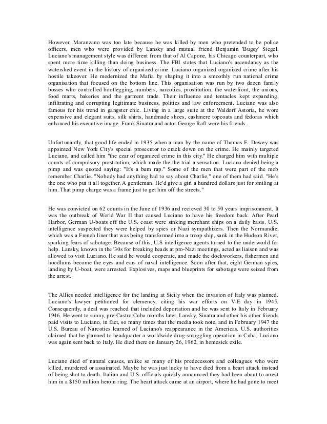 Controlling organized crime essay