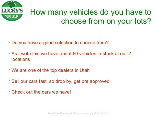 Lucky's Auto Credit Used Car Delers