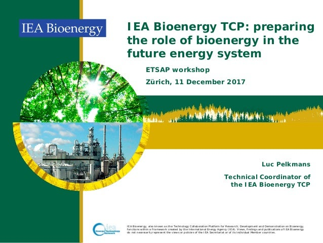 IEA Bioenergy, also known as the Technology Collaboration Platform for Research, Development and Demonstration on Bioenerg...