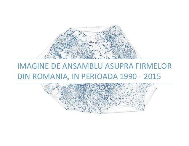 IMAGINE DE ANSAMBLU ASUPRA FIRMELOR DIN ROMANIA, IN PERIOADA 1990 - 2015