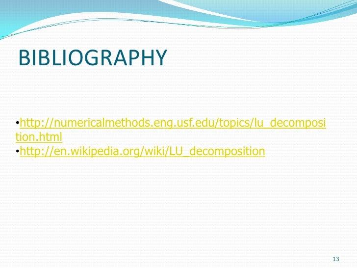 C Program for LU Factorization