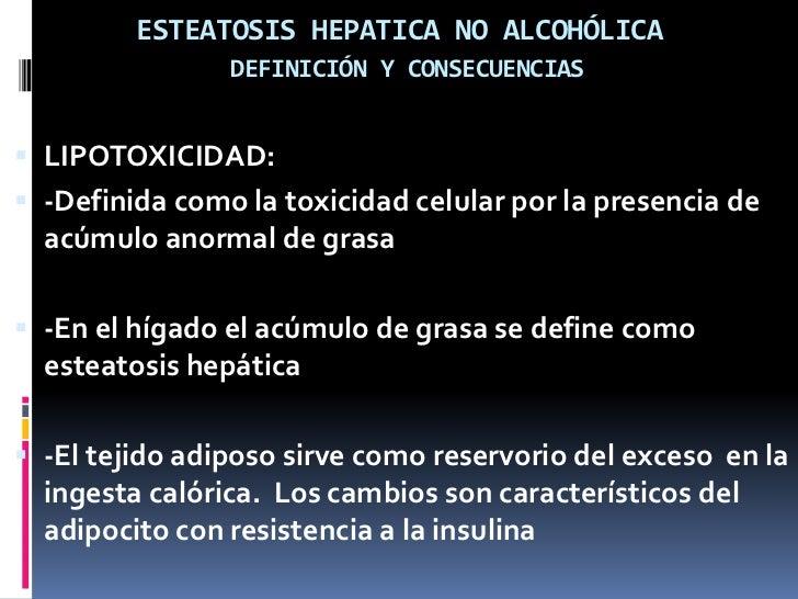 Cambios del hepatocito en el estado de resistencia a la