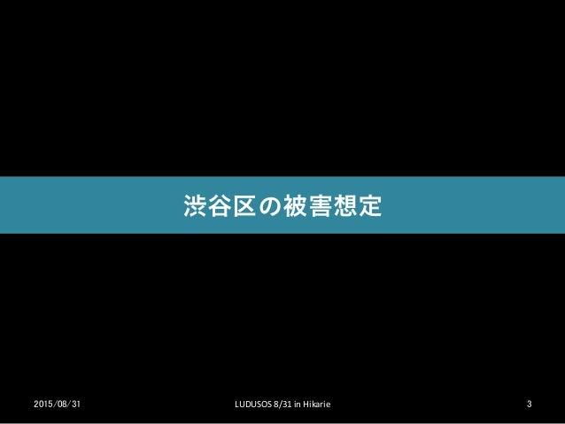 次世代版避難訓練LUDUSOS渋谷 2015/8/31 Slide 3