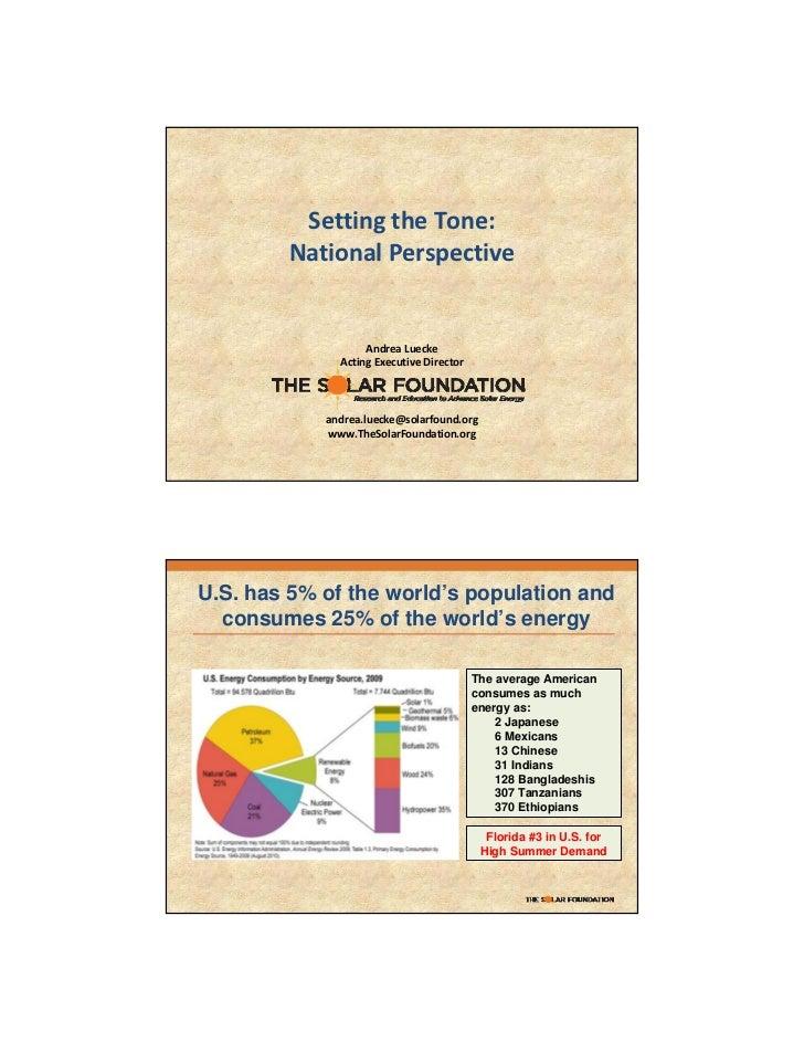 SettingtheTone:        NationalPerspective                   AndreaLuecke              ActingExecutiveDirector     ...