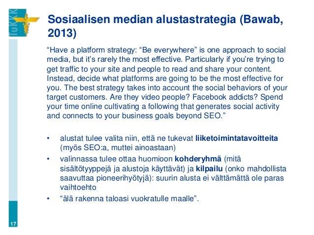 Markkinointi sosiaalisessa mediassa (MA23 Digitaalinen markkinointi,