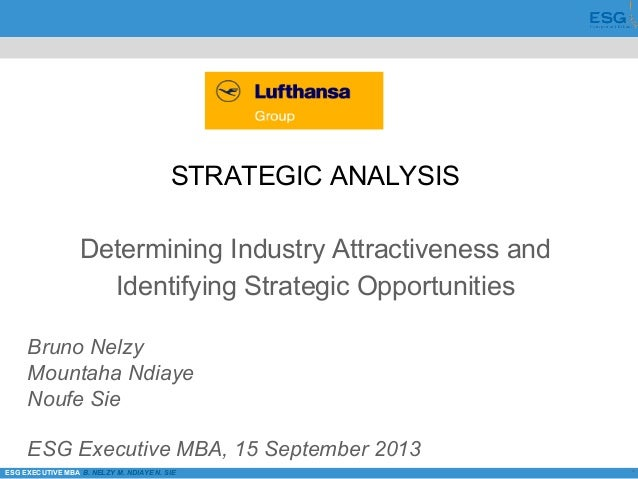 *ESG EXECUTIVE MBA B. NELZY M. NDIAYE N. SIE STRATEGIC ANALYSIS Determining Industry Attractiveness and Identifying Strate...