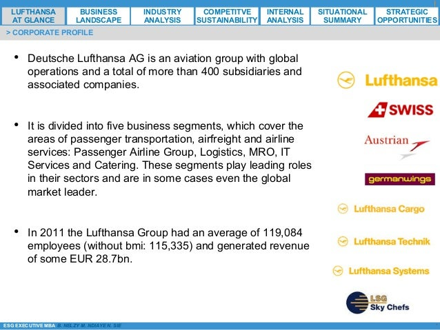 lufthansa international strategy Lufthansa airlines are among the leading airline carriers in the world and offer domestic as well as international flights to its customers in its variety of its carriers lufthansa provides following services to its customers: book, flight information, planning (travel guide, tours and activities) all these form the product strategy in.