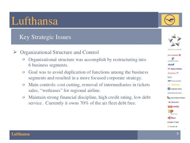 Lufthansa and organizational structure