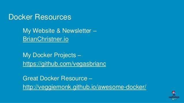 Lugano Tech Talks - Why Docker