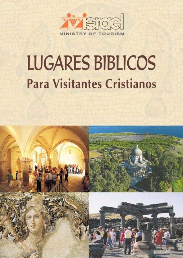 eïrtczei  MINISTRY OF TOURISM  LUGARES BlBLlCOS  Para Visitantes Cristianos