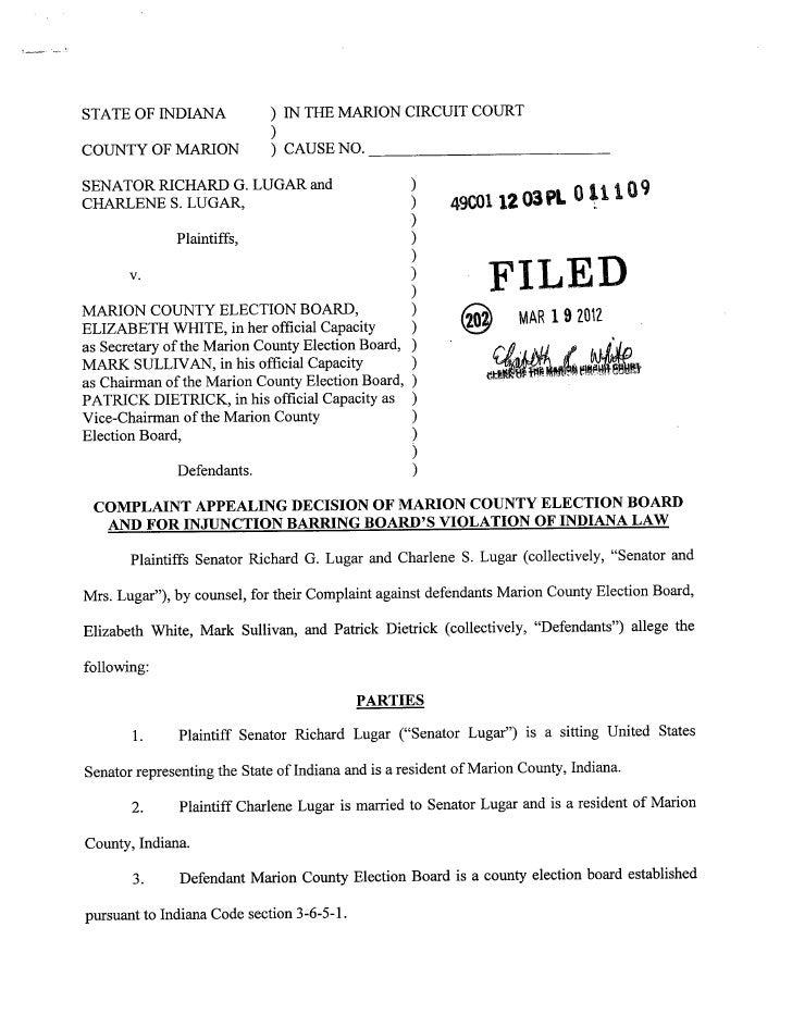 Lugar lawsuit
