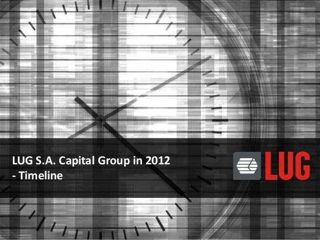 LUG S.A. Capital Group in 2012 - Timeline