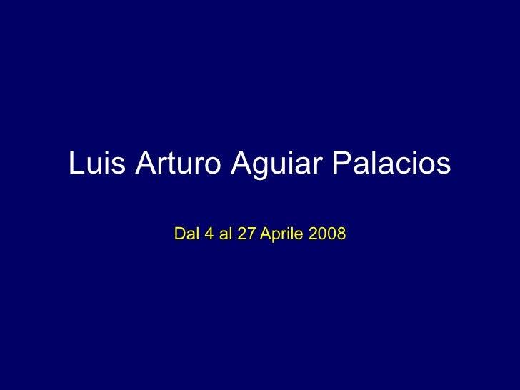 Luis Arturo Aguiar Palacios Dal 4 al 27 Aprile 2008
