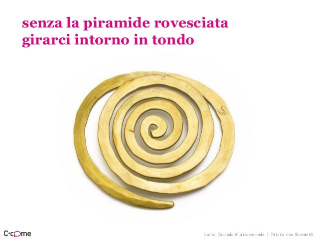 Luisa Carrada @luisacarrada | Twitta con #ccome16 prima frase fulminea