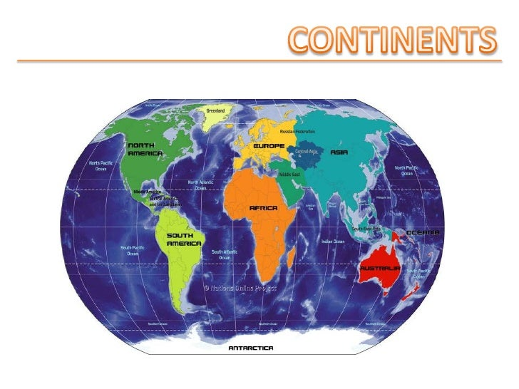 CONTINENTS<br />