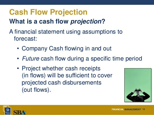 small business cash flow projection