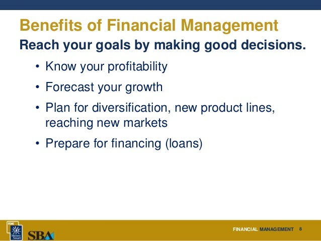 financial management for small business Sound financial management is crucial to the survival and well-being of small  enterprises of all types studies of reasons for small business failure inevitably.