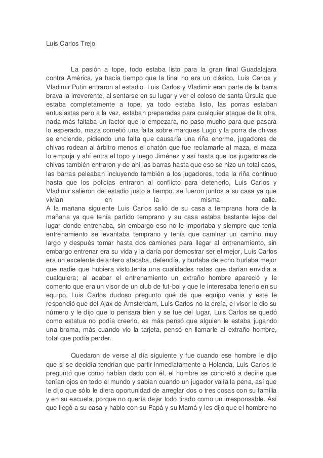 Luis Carlos Trejo La pasión a tope, todo estaba listo para la gran final Guadalajara contra América, ya hacía tiempo que l...