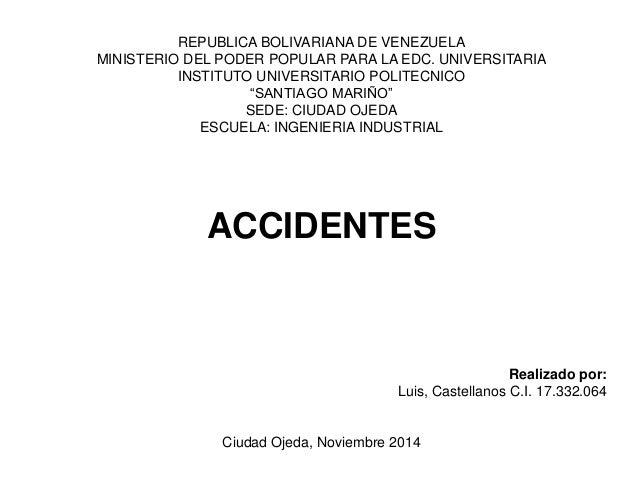 REPUBLICA BOLIVARIANA DE VENEZUELA  MINISTERIO DEL PODER POPULAR PARA LA EDC. UNIVERSITARIA  INSTITUTO UNIVERSITARIO POLIT...