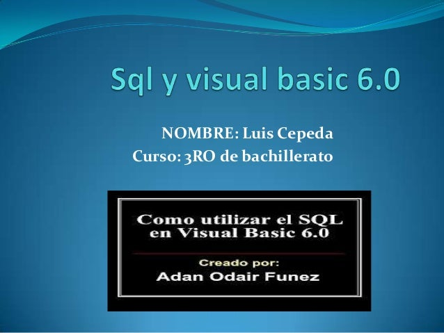 NOMBRE: Luis CepedaCurso: 3RO de bachillerato
