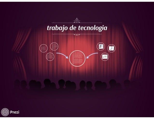 trabajo de tecnologuia