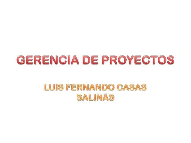 GERENCIA DE PROYECTOSconsiste en organizar y administrar los recursosRESPONSABLES EN LA VIDA DE UN PROYECTOSon personas o ...