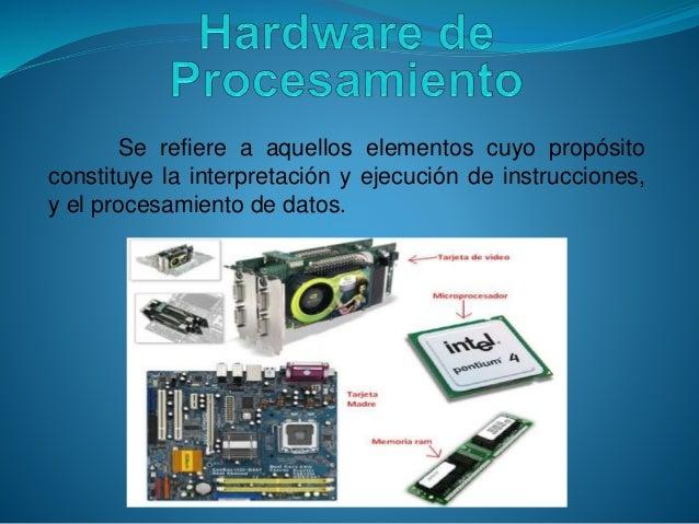 El computador y sus elementos hardware y software for Elementos de hardware