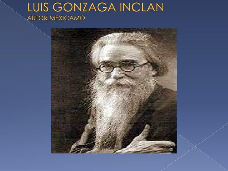 LUIS GONZAGA INCLANAUTOR MEXICAMO<br />