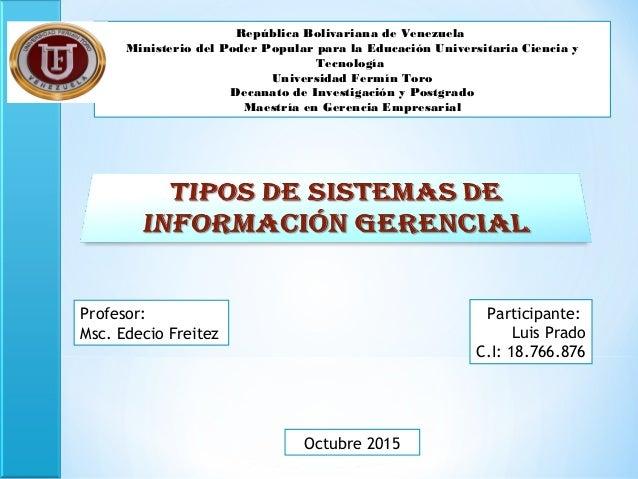 República Bolivariana de Venezuela Ministerio del Poder Popular para la Educación Universitaria Ciencia y Tecnología Unive...