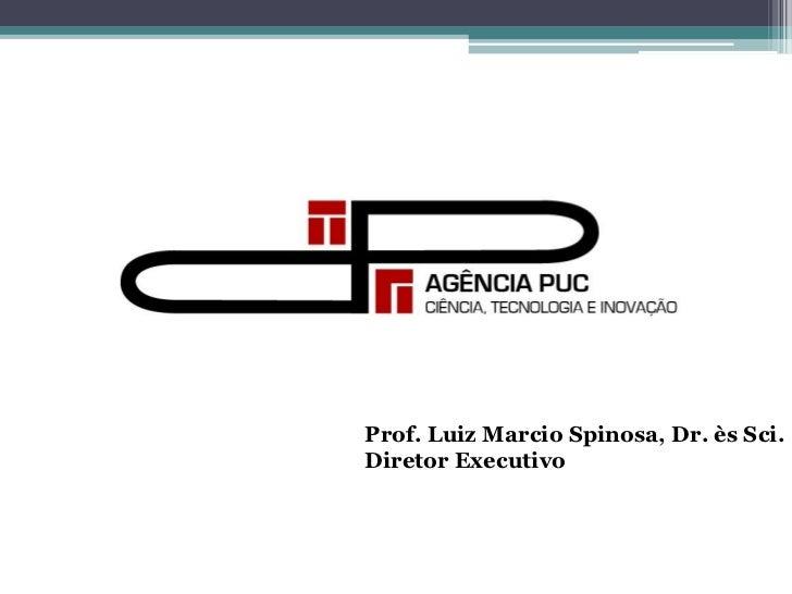 Prof. Luiz Marcio Spinosa, Dr. ès Sci.Diretor Executivo