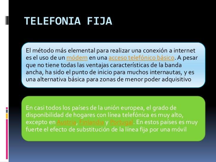 TELEFONIA FIJA<br />