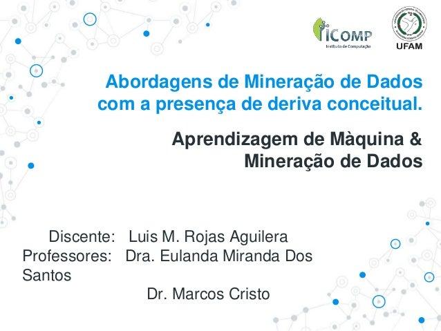 Abordagens de Mineração de Dados com a presença de deriva conceitual. Aprendizagem de Màquina & Mineração de Dados Discent...